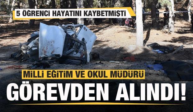5 öğrenci hayatını kaybetmişti! İlçe milli eğitim ile okul müdürü görevden alındı