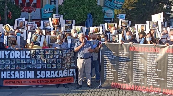 Antalya'da 10 Ekim anması: Sorumluları affetmeyeceğiz