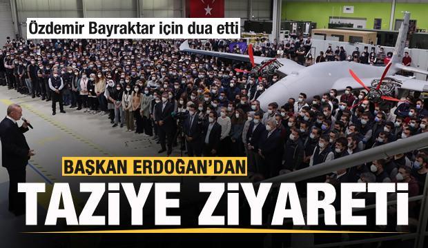 Cumhurbaşkanı Erdoğan'dan Baykar'a taziye ziyareti