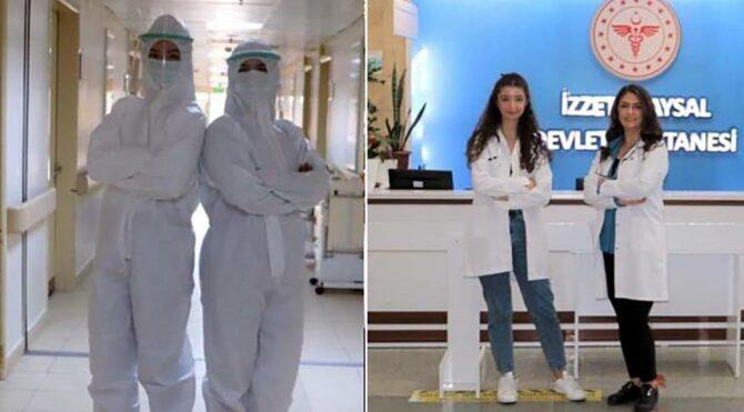Doktor anne- kız, aynı corona virüs servisinde görev yapıyor