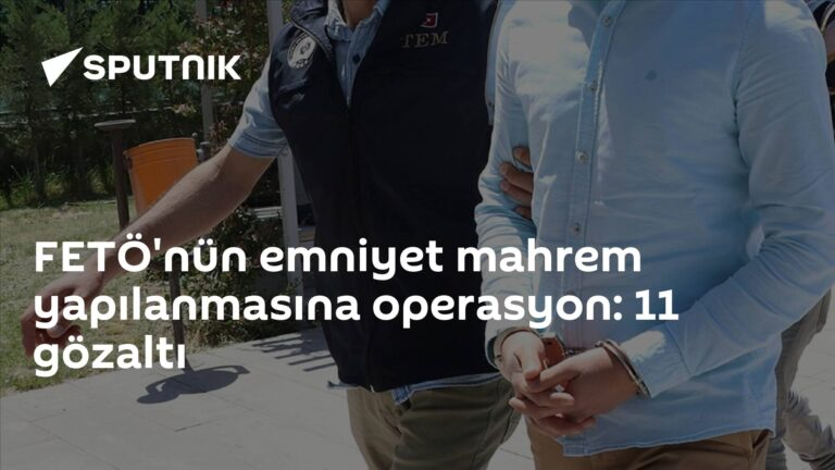 FETÖ'nün emniyet mahrem yapılanmasına operasyon: 11 gözaltı