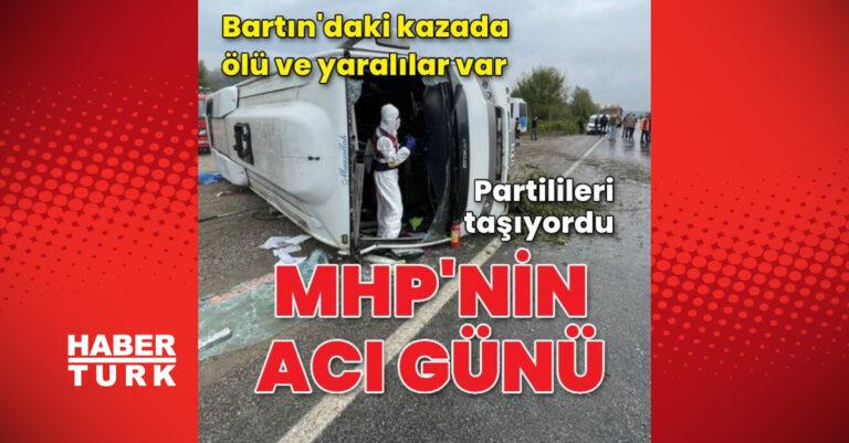 MHP'nin acı günü! Partilileri taşıyan midibüs devrildi
