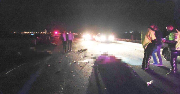 Minibüs koyun sürüsüne çarptı: 6 kişi yaralandı, 34 koyun öldü