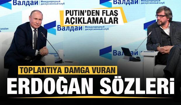 Putin'den toplantıya damga vuran sözler! Erdoğan haklı...