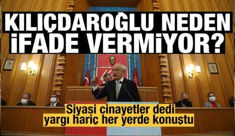 Siyasi cinayet söyleminin sahibi Kılıçdaroğlu sessizliğini koruyor